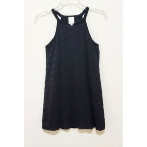 Anthropologie Ella Moss Black Tunic Tank Dress